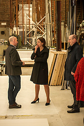 Pictured: Alex McGowan, Executive Director of the Lyecum,  Kezia Dugdale and Ben Jefferies, Director of Communications and Customer Services<br /> Scottish Labour leader Kezia Dugdale, MSP,  and Tom Watson, MP deputy leader of the Labour Party, visited Edinburgh's Royal Lyceum Theatre today.<br /> <br /> Ger Harley   EEm 27 March 2017