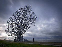 Antony Gormley's Exposure sculpture in Lelystad in The Netherlands