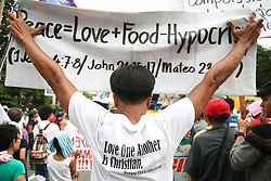 October 7, 2016 - Philippines - Activists from leftist group, Bayan, marched to the Mendiola Bridge in Manila, to call for changes on President Duterte's 100th day in office. (Credit Image: © J Gerard Seguia via ZUMA Wire)