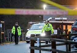 © Licensed to London News Pictures. 20/12/2019. London, UK. Police at the scene at Sophe Lounge in Scatchwood Park near the A1 Edgware, North West London where the body of a man was found inside a car with multiple stab wounds. Photo credit: Ben Cawthra/LNP
