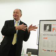 Art auction held at Gimpel Fils in support of Ken Livingstone's bid for London Mayor in May 2012. Ken Livinstone opening the auction.