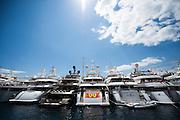 May 20-24, 2015: Monaco Grand Prix: Yachts in the harbor