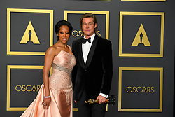 February 9, 2020, Los Angeles, California, USA: REGINA KING AND BRAD PITT in the Press Room during the 92nd Academy Awards, presented by the Academy of Motion Picture Arts and Sciences (AMPAS), at the Dolby Theatre in Hollywood. (Credit Image: © Kevin Sullivan via ZUMA Wire)