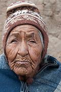 Bolivia 2013.Huayhuasi. Paula, Teodosia's 92 year old grandmother.