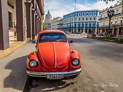 Old vintage car in Havana, the Republic of Cuba.