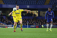 AFC Wimbledon midfielder Anthony Hartigan (8) controlling the ball during the EFL Trophy match between U21 Chelsea and AFC Wimbledon at Stamford Bridge, London, England on 4 December 2018.