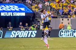 September 11, 2018 - East Rutherford, NJ, U.S. - EAST RUTHERFORD, NJ - SEPTEMBER 11: Argentina midfielder Franco Cervi (24) heads the bal during the second half of the International Friendly Soccer match between Argentina and Colombia on September 11, 2018 at MetLife Stadium in East Rutherford, NJ. (Photo by John Jones/Icon Sportswire) (Credit Image: © John Jones/Icon SMI via ZUMA Press)