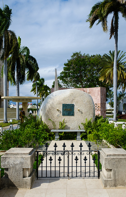 SANTIAGO DE CUBA, CUBA - CIRCA JANUARY 2020: Fidel Castro Mausoleum at the Santa Ifigenia Cemetery in Santiago de Cuba. This is the resting place of a few notable Cubans, including Jose Marti and Fidel Castro among others.