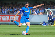 AFC Wimbledon midfielder Anthony Hartigan (8) about to shoot during the EFL Sky Bet League 1 match between AFC Wimbledon and Bristol Rovers at the Cherry Red Records Stadium, Kingston, England on 19 April 2019.