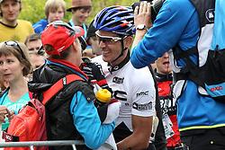 01.06.2014, Bullentaele, Albstadt, GER, UCI Mountain Bike World Cup, Cross Country Herren, im Bild Julien Absalon Frankreich nach dem Sieg // during Mens Cross Country Race of UCI Mountainbike Worldcup at the Bullentaele in Albstadt, Germany on 2014/06/01. EXPA Pictures © 2014, PhotoCredit: EXPA/ Eibner-Pressefoto/ Langer<br /> <br /> *****ATTENTION - OUT of GER*****