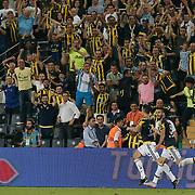 Fenerbahce's Van Persie (C) during their Turkish super league soccer match Fenerbahce between Bursaspor at the Sukru Saracaoglu stadium in Istanbul Turkey on Sunday 20 September 2015. Photo by Aykut AKICI/TURKPIX
