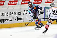 24.Feb.2012; Rapperswil-Jona; Eishockey NLA - Rapperswil-Jona Lakers - EV Zug; Brandon Reid (LAK)<br />  (Thomas Oswald)