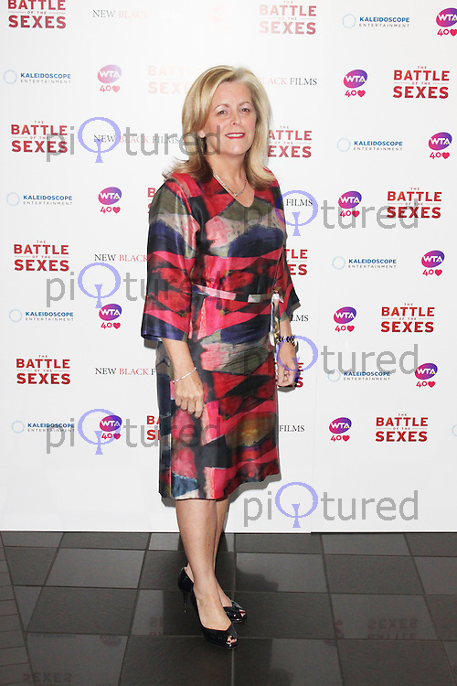 LONDON - June 26: Stacey Allaster at The Battle of the Sexes - London Film Premiere (Photo by Brett D. Cove)