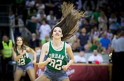 Dragon Ladies perform during basketball match between KK Union Olimpija and KK Rogaska in 2nd Final game of Liga Nova KBM za prvaka 2016/17, on May 19, 2017 in Hala Tivoli, Ljubljana, Slovenia. Photo by Vid Ponikvar / Sportida
