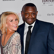 Niamh O'Brien and guest attend Blackbird - World Premiere with Michael Flatley at May Fair Hotel, London, UK. 28th September 2018.