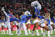 LA Rams cheerleaders perform during the NFL game between Cincinnati Bengals and LA Rams at Wembley Stadium in London, United Kingdom. 27 October 2019