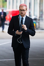 Cambridge Analytica whistleblower Chris Wylie arrives at the BBC's New Broadcasting House in London to appear on the Andrew Marr Show. London, April 08 2018.