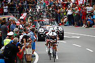 Team Sunweb during the 2018 UCI Road World Championships, Men's Team Time Trial cycling race on September 23, 2018 in Innsbruck, Austria - Photo Luca Bettini / BettiniPhoto / ProSportsImages / DPPI