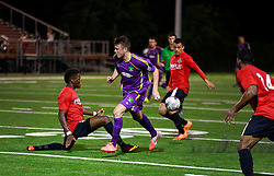 17 May 2014. New Orleans, Louisiana.<br /> New Orleans Jesters draw 1-1 with the Atlanta Silverbacks on a great night for a game at the Pan Am Stadium. <br /> Charlie Varley/varleypix.com