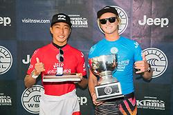 Finn McGill of Hawaii wins the 2018 World Junior Championship after defeating Joh Azuchiof Japan  in the final at Kiama, NSW, Australia.