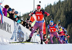 Evgeniy Garanichev (RUS) during Men 12,5 km Pursuit at day 3 of IBU Biathlon World Cup 2015/16 Pokljuka, on December 19, 2015 in Rudno polje, Pokljuka, Slovenia. Photo by Vid Ponikvar / Sportida