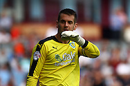 Burnley Goalkeeper Thomas Heaton looks on. Skybet football league championship match, Burnley  v Brentford at Turf Moor in Burnley, Lancs on Saturday 22nd August 2015.<br /> pic by Chris Stading, Andrew Orchard sports photography.