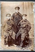 army friends posing in studio setting Japan 1920s