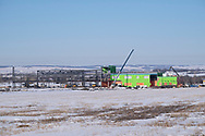 Photo Randy Vanderveen<br /> Grande Prairie, Alberta, Canada<br /> 2017-03-20<br /> St. John Paul II Catholic High School takes shape on the city's northwest side. The Grande Prairie Public School District is hoping there will soon be an announcement about a new public high school project to replace the Comp.