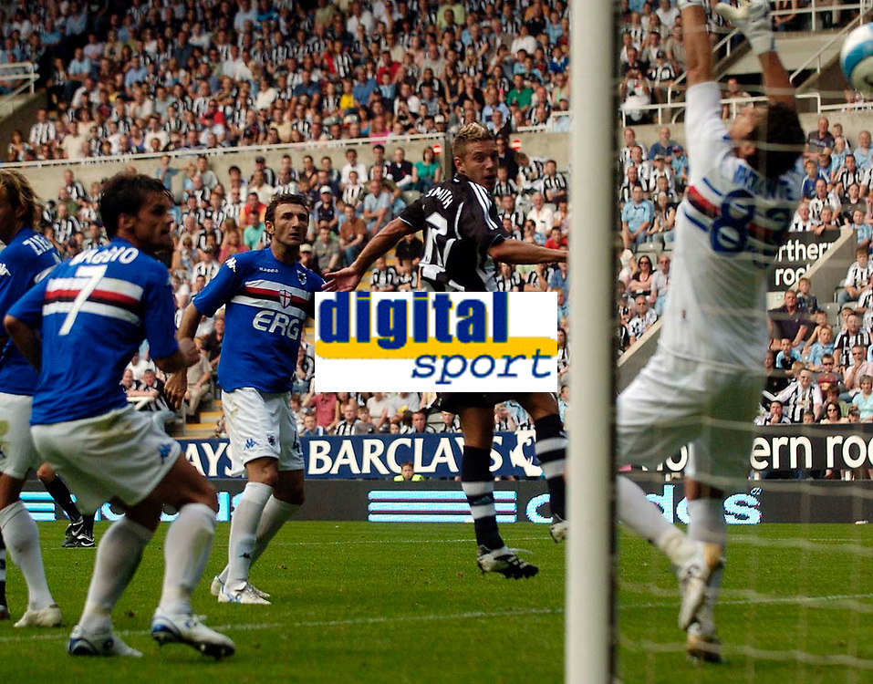 Photo: Jed Wee/Sportsbeat Images.<br /> Newcastle United v Sampdoria. Pre Season Friendly. 05/08/2007.<br /> <br /> Newcastle's new signing Alan Smith scores on his debut.