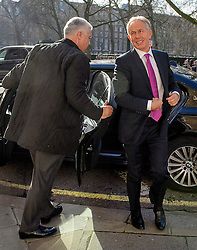 © Licensed to London News Pictures. 17/02/2017. London, UK. Former British Prime Minister Tony Blair seen in central London on the day he called for Britons to 'rise up' against Brexit. Photo credit: Ben Cawthra/LNP