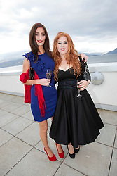 Stars of The Inbetweeners Movie, Jessica Knappet and Lydia Rose Bewley, at a press photo-call on Skye before a sold-out screening of the new film in the island's Gaelic college.