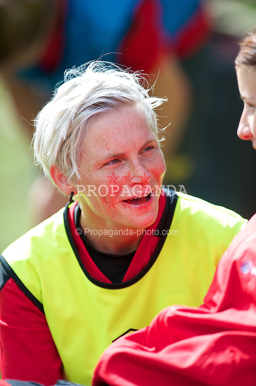 CARDIFF, WALES - Wednesday, September 12, 2012: Wales' Jessica Fishlock during a training session at the Vale of Glamorgan ahead of the UEFA Women's Euro 2013 Qualifying Group 4 match against Scotland. (Pic by David Rawcliffe/Propaganda)