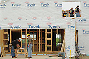 Nicor Inc. employees volunteer with family and friends helping to build homes with Habitat for Humanity in West Chicago, Illinois on Saturday, May 21st, 2011 during Nicor's 15th Volunteer Day. The company's annual event includes volunteering at events like outdoor clean ups at local social service agencies, food sorting at area pantries and energy-saving improvements at the homes of senior citizens. For additional information, visit nicor.com or contact Richard Caragol at 630-388-2686.