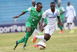 Jacques Tuiysenge (R) of Gor Mahia outpace Boniface Akenga of Nakumatt FC during their Sportpesa Premier League tie at Nyayo Stadium in Nairobi on July 30, 2017. Gor won 2-0. Photo/Fredrick Omondi/www.pic-centre.com(KENYA)