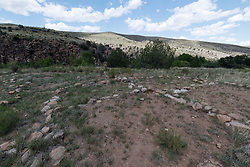 Ancient Native American site, Ladder Ranch, New Mexico, USA.