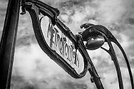 Classic Metro Sign #1, Paris