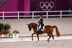 TOKYO - Olympische Spiele / Olympic Games 2021<br /> <br /> WAGNER EHLINGER Nicolas (LUX), Quater Back Junior FRH<br /> Grand Prix de Dressage<br /> <br /> Tokio, Equestrian Park<br /> 25. July 2021<br /> © www.sportfotos-lafrentz.de/Stefan Lafrentz