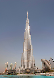 Burj Khalifa tower the world's tallest building in Dubai United Arab Emirates, UAE