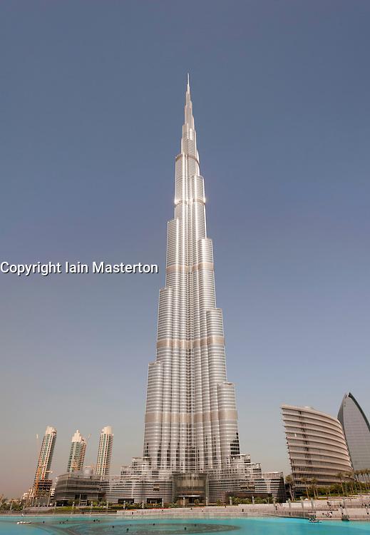 Burj Khalifa tower the world's tallest building in Dubai United Arab Emirates, UAE