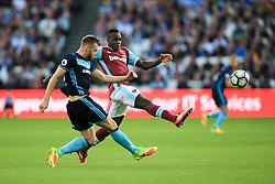 Michail Antonio of West Ham United puts Calum Chambers of Middlesbrough under pressure - Mandatory by-line: Jason Brown/JMP - 01/10/2016 - FOOTBALL - London Stadium - London, England - West Ham United v Middlesbrough - Premier League