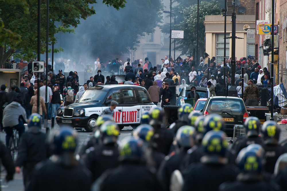 Riots on Clarence Road Hackney, London on 8th August 2011...Photo Ki Price.