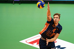 12-05-2019 NED: Abiant Lycurgus - Achterhoek Orion, Groningen<br /> Final Round 5 of 5 Eredivisie volleyball, Orion wins Dutch title after thriller against Lycurgus 3-2 / Joris Marcelis #4 of Orion