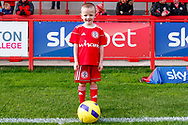 Accrington Stanley    match day mascot during the EFL Sky Bet League 1 match between Accrington Stanley and Portsmouth at the Fraser Eagle Stadium, Accrington, England on 27 October 2018.