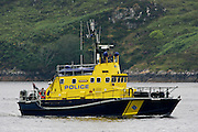 Police boat in Stornoway, Outer Hebrides, Scotland, United Kingdom