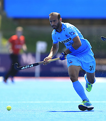 India's Ramandeep Singh during the Men's World Hockey League match at Lee Valley Hockey Centre, London. PRESS ASSOCIATION Photo. Picture date: Tuesday June 20, 2017. Photo credit should read: Nigel French/PA Wire