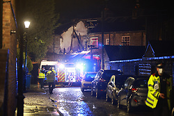 © Licensed to London News Pictures. 17/02/2021. Bury , UK. Scene where a host had exploded in Bury, Greater Manchester. Photo credit: Joel Goodman/LNP