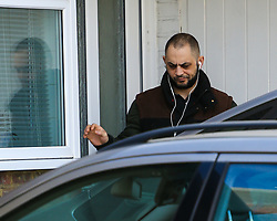 ***WAIT FOR ID CONFIRMATION*** Nouredden Abushareef leaves his home in Hounslow before appearing at Ealing Magistrates Court for sentencing after sharing a sex video of himself with his ex girlfriend. London, March 16 2018.