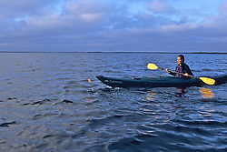Louise Brooks In Kayak & Flag
