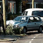 Ongeval Delta Huizen, auto tegen boom