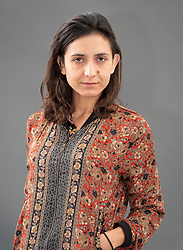 """Edinburgh, Scotland, UK; 17 August, 2018. Pictured; Author  Ottessa Moshfegh. Follows her Man Booker shortlisted novel with """"My Year of Rest and Relaxation"""" a blackly comical tale of drug-fuelled alienation in Manhattan shortly before 9/11."""